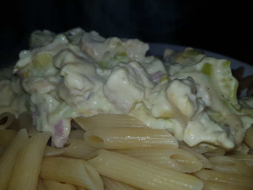 Pasta Chicken CordenBleu