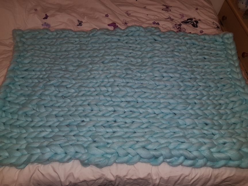 Trying Giant Knitting